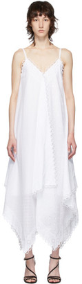 Erdem White Eyelet Feliza Waterfall Dress