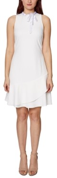 Betsey Johnson Tie-Neck Ruffle Dress