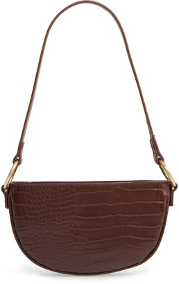 BP Embossed Faux Leather Shoulder Bag