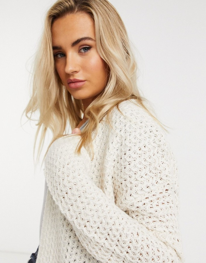 Thumbnail for your product : Qed London longline cardigan in bone