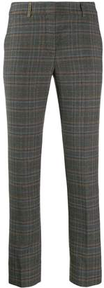 Peserico checked print trousers