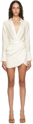 GAUGE81 White Silk Naha Short Dress