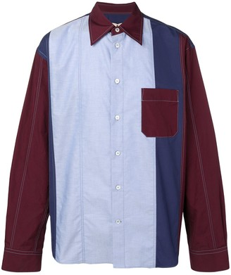 Marni colour block shirt