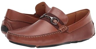 Massimo Matteo Bit Strap Driver (Black) Men's Shoes