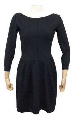 Louis Vuitton Black Wool Dresses