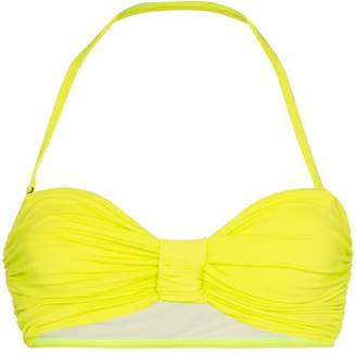 Beth Richards Scrunchie ruched bandeau bikini top