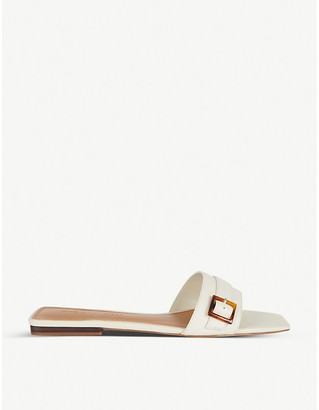 Who What Wear Whitney buckled faux-leather sandals