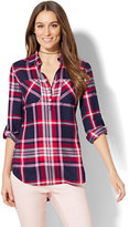 New York & Co. Soho Soft Tunic Shirt - Plaid