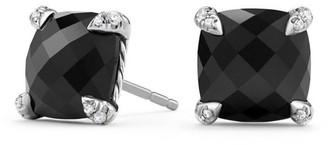 David Yurman Chatelaine Stud Earrings with Gemstone & Diamonds/9mm
