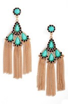 Adia Kibur Women's Chain Fringe Drop Earrings