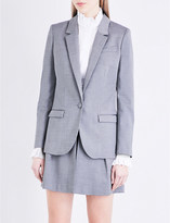 Claudie Pierlot Vanille single-breasted woven blazer