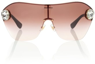 Miu Miu Enchant embellished sunglasses