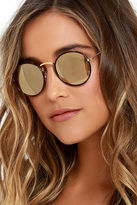 LuLu*s Sharp Focus Tortoise Round Sunglasses