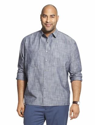 Van Heusen Men's Big & Tall Big and Tall Never Tuck Long Sleeve Button Down Solid Shirt