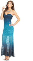 Jump Juniors' Strapless Glittered Gown
