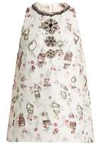 Giambattista Valli Embellished floral-embroidered top