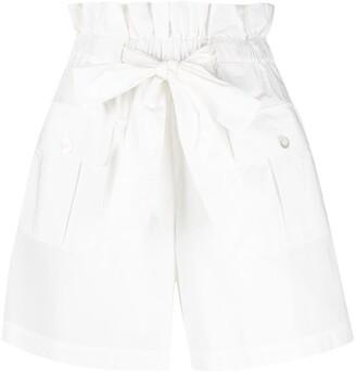 Emporio Armani Bow Detail Gathered Shorts