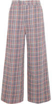 Joseph Ferrandi Checked Cotton-tweed Wide-leg Pants