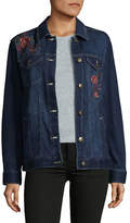 Style And Co. Aurora Floral Denim Jacket