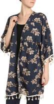 David & Young Floral Tassel Kimono - Women's