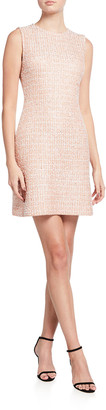 St. John Tweed Knit A-Line Dress