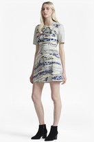 French Connection Derain Stitch Back Cut Out Dress