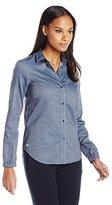 Lacoste Women's Long Sleeve Cotton Chambray Shirt