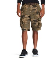 Mossimo Men's Belted Cargo Shorts Camo Brown Evening