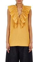Marni Women's Ruffle Cotton V-Neck Top