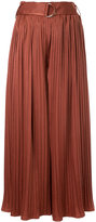 GUILD PRIME belted pleated palazzo trousers