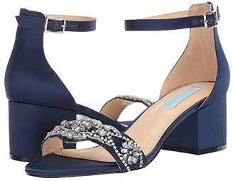 Blue by Betsey Johnson Mel (Silver Satin 1) High Heels