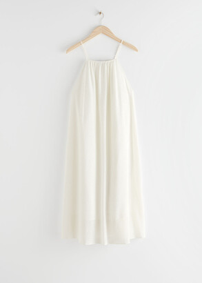 And other stories Spaghetti Strap Crepe Midi Dress