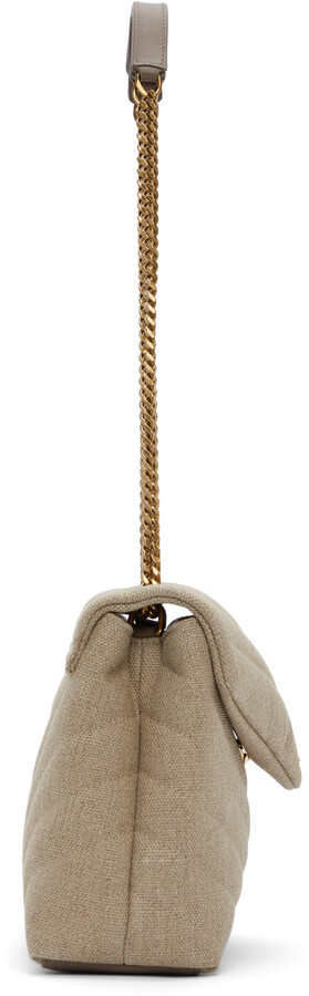 Thumbnail for your product : Saint Laurent Beige Quilted Small Loulou Bag