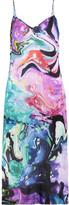 Matthew Williamson Printed silk-satin midi dress