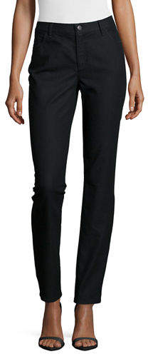 Lafayette 148 New York Thompson Yarn-Dyed Denim Slim-Leg Jeans, Plus Size