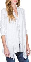 Neiman Marcus 3/4-Sleeve Open Cardigan, White