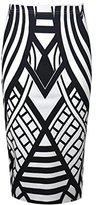 VIP Womens Monochrome Weaved Pattern Pencil Midi Skirt (Sty) (4/6 (uk), )