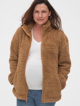 Gap Maternity Sherpa Full-Zip Jacket