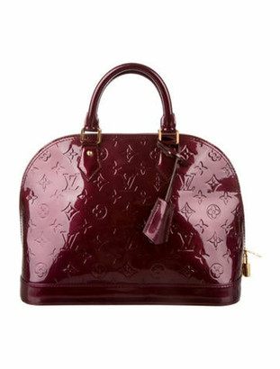 Louis Vuitton Vernis Alma PM Rouge