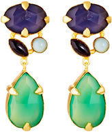 Mapleton Drive Abstract Prong Jewel Tone Drops, Green