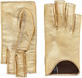 Gucci Metallic leather gloves