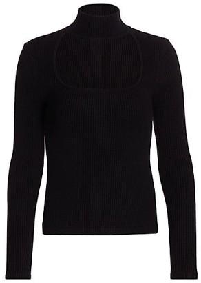 JONATHAN SIMKHAI STANDARD Janessa Recycled Cutout Squareneck Sweater