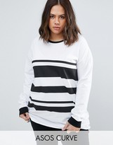 Asos T-Shirt in Block Stripe with Long Sleeve