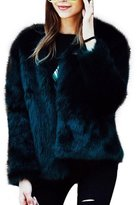 KINUT winter coat for women Faux Fur Long Sleeve Fluffy Wrap Jacket