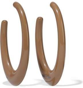 Ben-Amun Ben Amun Resin Silver-tone Hoop Earrings