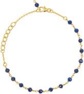 Lapis Latelita Olivia Beaded Gemstone Bracelets Gold Lazuli