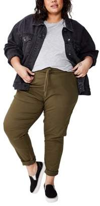 Cotton On Curve Rolled Hem Chino Pant With Elastic Waistband