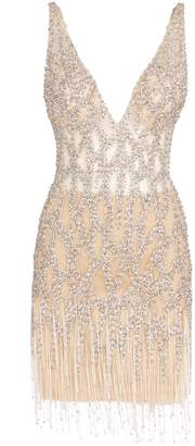 Jovani Embellished Fringe Dress