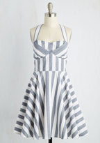 Traveling Cake Pop Truck Dress in Stripes in 2X
