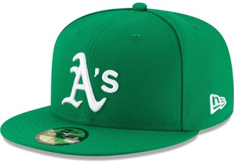 New Era Youth Green Oakland Athletics Authentic Collection On-Field 59FIFTY Fitted Hat